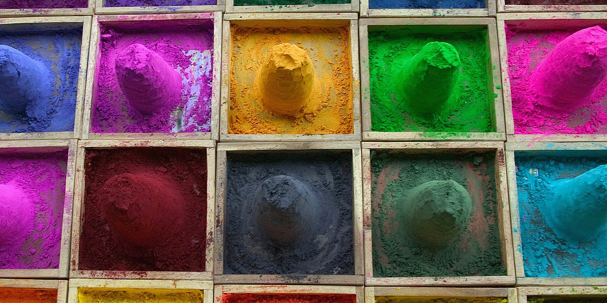 Пазл Собирать пазлы онлайн - Краски