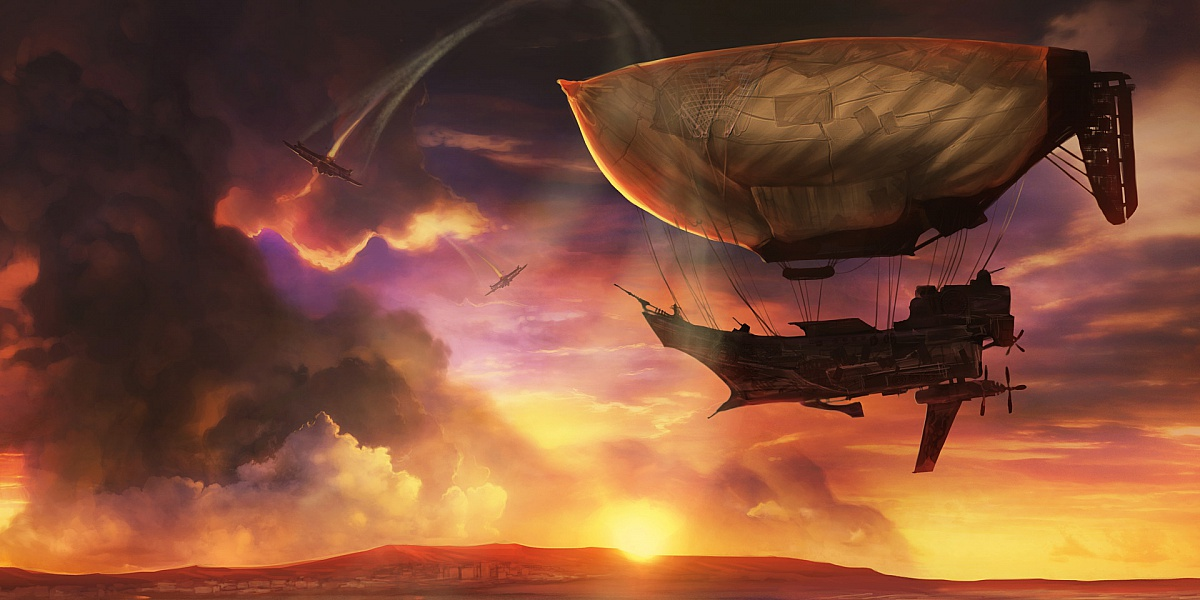 Пазл Собирать пазлы онлайн - Летучий корабль
