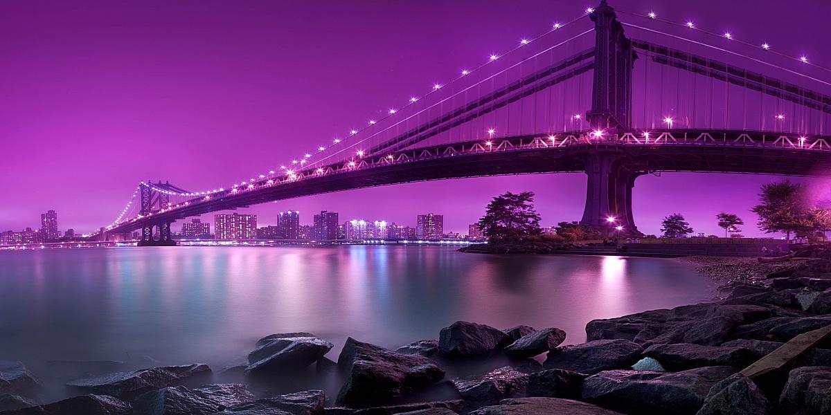 Пазл Собирать пазлы онлайн - Ночной мост