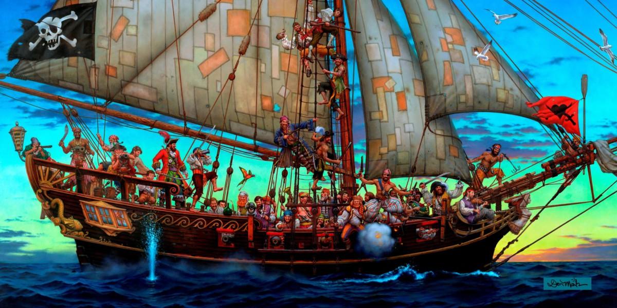 Пазл Собирать пазлы онлайн - Пиратский корабль