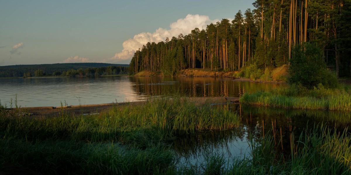 Пазл Собирать пазлы онлайн - Река Кама