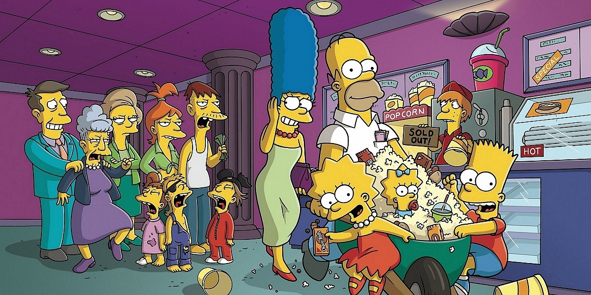 Пазл Собирать пазлы онлайн - Симпсоны в кино