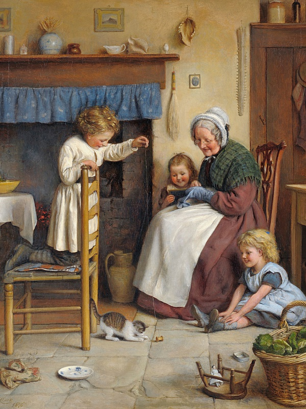 Пазл Собирать пазлы онлайн - Бабушка