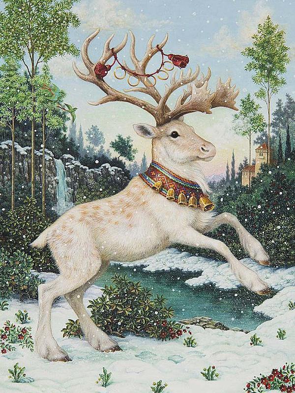 Пазл Собирать пазлы онлайн - Белый олень