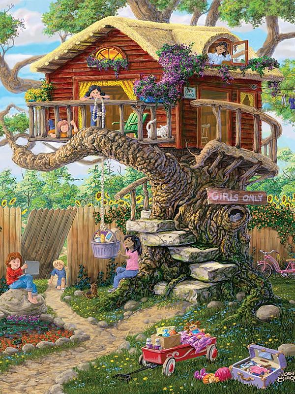 Пазл Собирать пазлы онлайн - Дом на дереве