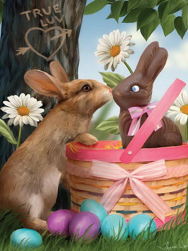 Пазл Собирать пазлы онлайн - Два зайца