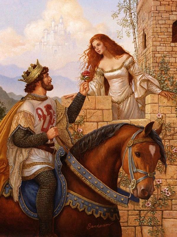 Пазл Собирать пазлы онлайн - Король и принцесса