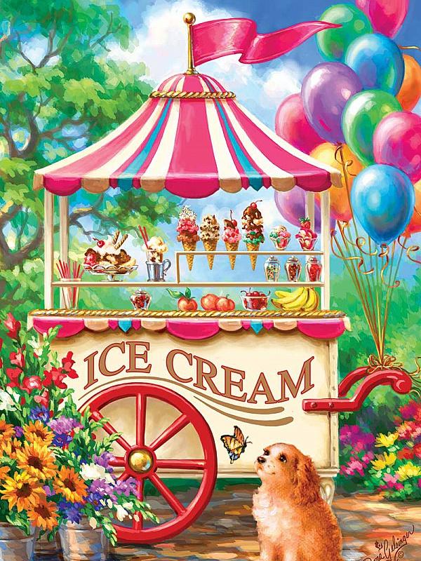 Пазл Собирать пазлы онлайн - Палатка мороженого