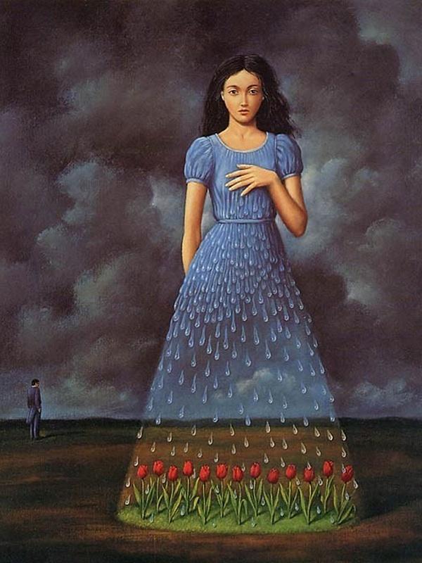Пазл Собирать пазлы онлайн - Платье из дождя