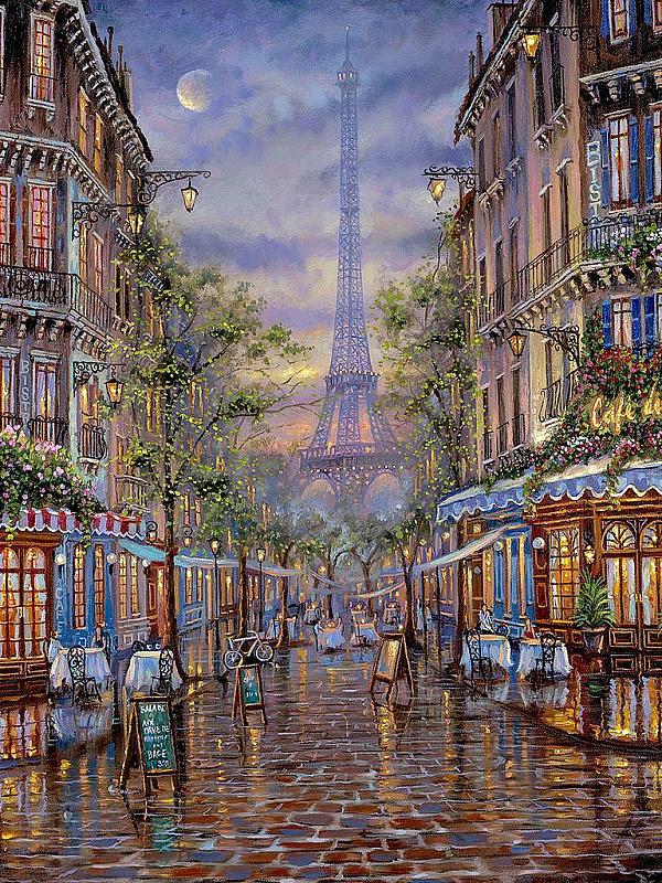Пазл Собирать пазлы онлайн - Уличные кафе в Париже