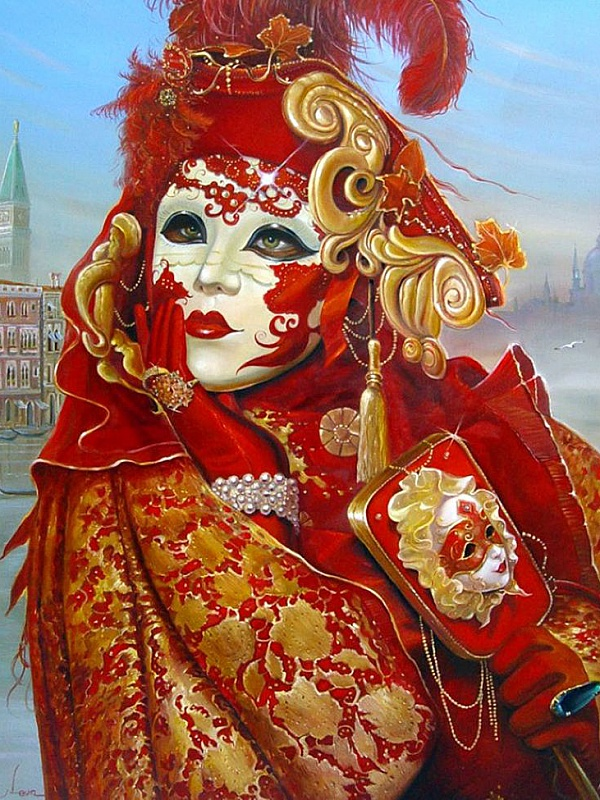 Пазл Собирать пазлы онлайн - Венецианская маска