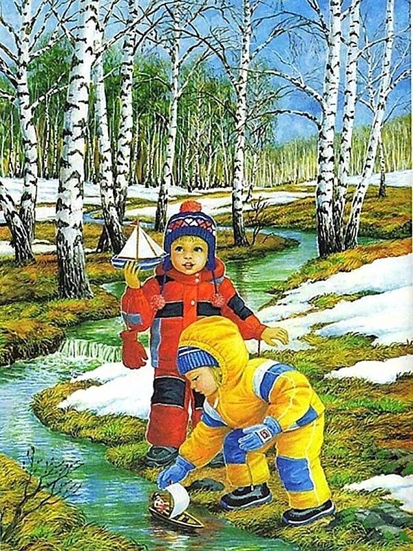 Детские картинки ранняя весна