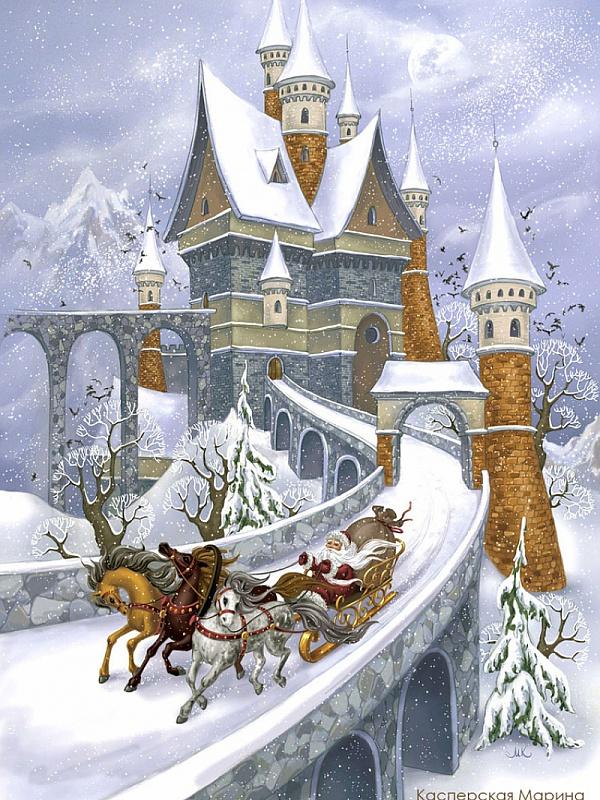 Пазл Собирать пазлы онлайн - Замок Деда Мороза