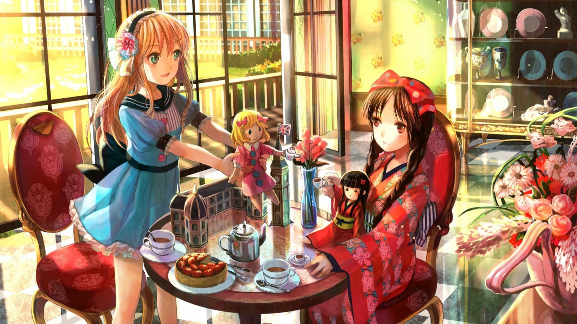 девушка лицо чаепитие girl face the tea party  № 1849757 без смс