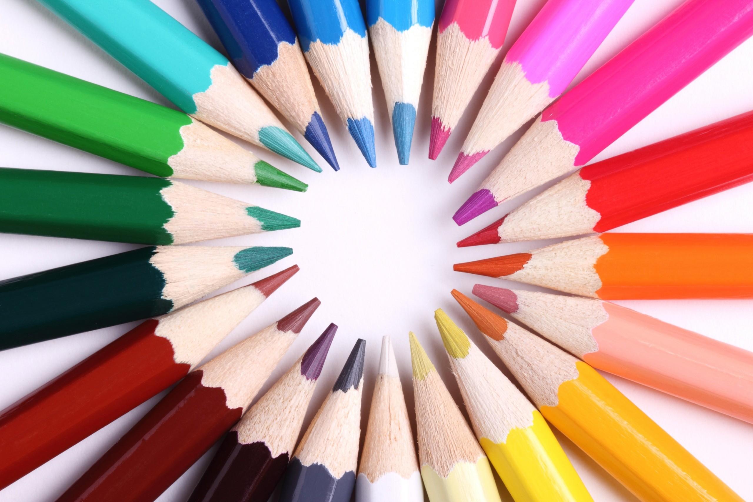 разноцветные карандаши  № 2931967  скачать