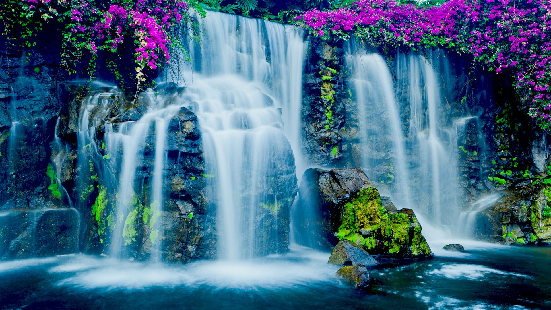 Фото на рабочий стол живые обои водопад